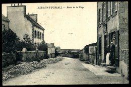 Cpa Du 29   Kersaint Porsall  Route De La Plage  HRT6 - Kersaint-Plabennec