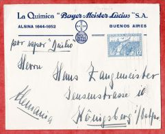 Brief, La Quimicia Bayer-Meister-Lucius S.A., EF Revolution 1930, Buenos Aires Nach Koenigsberg 1931 (43978) - Argentinien