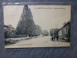 41 Saint-Gervais, Route Nationale, Belle CP Ancienne ; Ref 971 - France