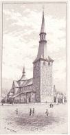 Image Gravure  - Ciney Et Le Condroz: église De Ciney - Vecchi Documenti