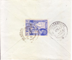 29.03.1947 Commercial Cover From Rangoon, Burma To Nattarasankotai, India - Myanmar (Burma 1948-...)