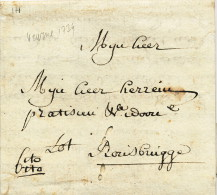 917/21 - Lettre Précurseur Avec Texte - EXPRES Cito Cito - VEURNE 1778 Vers ROUSBRUGGE - Signée De Lorge - 1714-1794 (Austrian Netherlands)