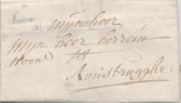 918/21 - Lettre Précurseur Avec Texte - VEURNE 1787 Vers ROUSBRUGGHE - Signée Nonckels - 1714-1794 (Austrian Netherlands)