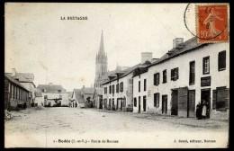 Cpa 35 Bédée    Route De Rennes       D15 - France