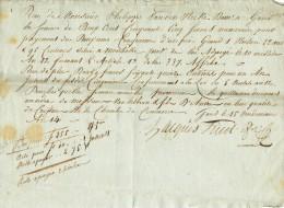 921/21 - GAND An 14 - Reçu De Mr Van Den Hecke Un Paiement De 255 Fr Pour Prairie à MOERBEKE - 1794-1814 (Periodo Frances)