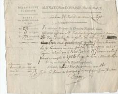 922/21 - GAND An 14 - Reçu De Mr Vandenbergen Un Paiement  Pour Verger à MEIRELBEKE Ex Cure De St Jacques - 1794-1814 (French Period)