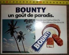 PUB PUBLICITE BARRE DE CHOCOLAT BOUNTY UN GOUT DE PARADIS - Vieux Papiers