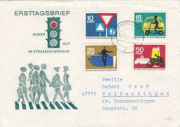 DDR 1169-1172 MiF  Auf Brief Mit Stempel: Zwenkau 12.4.1966 - Briefe U. Dokumente