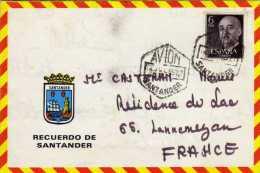 Timbre - CPM - Enveloppe - Carte Enveloppe Dépliante Espagne - Recuerdo De Santander - Non Classés