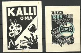 Estland Estonia Estonie Ex Libris 2 Ex - Bookplates