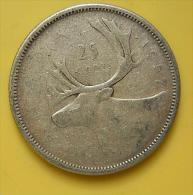 Canadá 25 Cents 1957 Silver - Canada