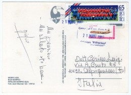 COSTA RICA - BUTTERFLY/PAPILLON BLUE MORPHO / THEMATIC STAMPS-AIRPLANE-FOOTBALL WORLD CUP 2002 - Costa Rica