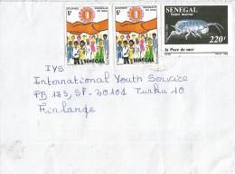 Senegal 1990 Dakar Sea Flee AIDS SIDA Cover - Senegal (1960-...)