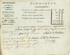 923/21 - GAND An 6 - Reçu De Mr Vandenheecke Un Paiement  Pour Parcelle à NEDERBOELAERE - 1794-1814 (French Period)