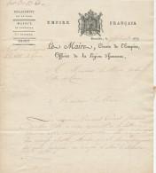 926/21 - Lettre BRUXELLES 1813 Vers LIER - Entete Illustrée Le Maire De Bruxelles , Département De La Dyle - 1794-1814 (French Period)