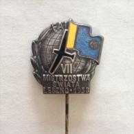 Badge / Pin (Gliding) - Poland Leszno 7th World Championship 1958 FAI - Badges