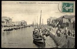 Cpa 34 Palavas Les Flots Le Canal Et Les Deux Rives D16 - Francia