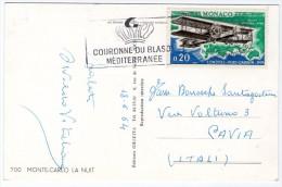 MONACO / MONTE-CARLO - LA NUIT / THEMATIC STAMP-AIRPLANE VICKERS-VIMY - Monaco