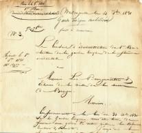 932/21 - Document Historique Garde Civique De WESTCAPELLE 1831 Vers Bourgmestre Et Echevins De BRUGES - 1830-1849 (Belgique Indépendante)