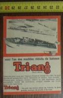 PUB PUBLICITE JOUET AUTO TRI-ANG TRIANG TORPILLEUR - Vieux Papiers