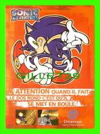 PUBLICITÉ - ADVERTISING - SONIC ADVENTURE - DREAMCAST DE SEGA ENTERPRISES LTD, 1999  - - Advertising