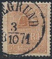 SUEDE - 3 ö. Bistre Type II Oblitéré - Suède
