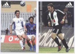2 Advertising Postcards / Werbepostkarte, Adidas, Football, Soccer - Pubblicitari