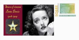 Spain 2013 - Stars Of The Cinema History - Bette Davis Special Prepaid Cover - Cinema