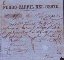 E4429 CUBA SPAIN RAILROAD OF  WEST INVOICE 1867. RECIBO DE LA CARGA ENVIADA POR EL FERROCARRIL DEL OESTE - Invoices & Commercial Documents
