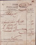 E4430 CUBA SPAIN RAILROAD OF  COLISEO  INVOICE 1865 - Invoices & Commercial Documents