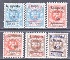 Memel  N 1-6  * - Unused Stamps