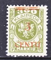 Memel  N 45  * - Memel (1920-1924)