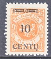 Memel  N 46  * - Unused Stamps