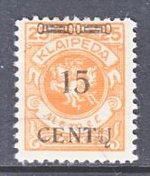 Memel  N 47  * - Unused Stamps