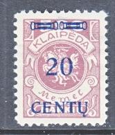 Memel  N 48  * - Unused Stamps