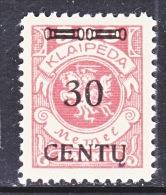 Memel  N 49  * - Memel (1920-1924)