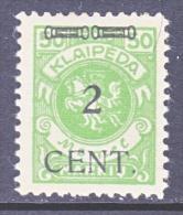 Memel  N 52  * - Unused Stamps