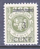 Memel  N 54  * - Unused Stamps