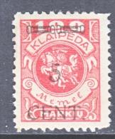 Memel  N 55  * - Unused Stamps