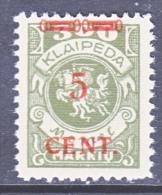 Memel  N 56  * - Unused Stamps