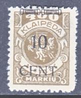 Memel  N 57  * - Unused Stamps