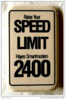 Button   Raise Your SPEED LIMIT 2400   Hayes Smartmodern - Pin's & Anstecknadeln