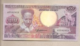 Suriname - Banconota Non Circolata Da 100 Fiorini - 1988 - Suriname