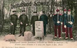 """SEPPOIS-le-Bas Gruss Aus Drei Lândern """" Frontiere Franco-allemande """" - France"""