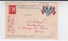 1915 - CARTE POSTALE FM DRAPEAUX De La 8° SECTION à DIJON CONDORCET (COTE D´OR) - Marcophilie (Lettres)