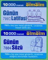 Azerbaijan GSM Prepaid - Azercell SIMSIM 2x 10000 Manat /like UNC / Old - Azerbaïjan