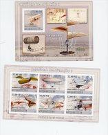 Histoire De L´aviationStrinfellow,Lr Bris,Giffard,Cayley,Ader, F Du Temple,-MozambiqueYT B196/2626/31+-NON Dentelé - Airplanes