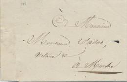 935/21 - Lettre Avec Texte Par Porteur - LAROCHE 1832 Vers Notaire à MARCHE - Pas De Marque De Port - 1830-1849 (Onafhankelijk België)