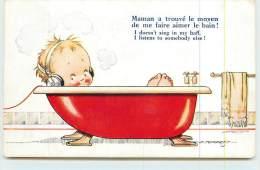D . TEMPEST  - Maman A Trouvé Le Moyen De Me Faire Aimer Le Bain! - Cartes Humoristiques