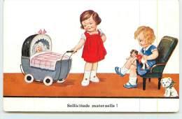 JOHN WILIGO  -Sollicitude Maternelle. - Cartes Humoristiques
